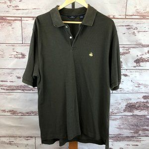 Brooks Brothers 346 Olive Polo Size Large - FLAW